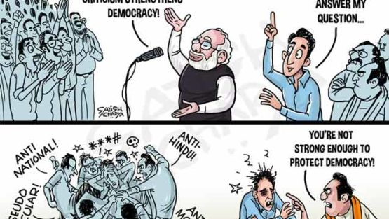 Narendra Modi says criticism strengthens democracy!