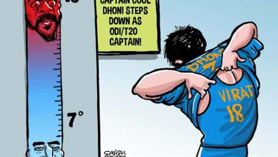 Captain Cool Dhoni steps down as ODI/T20 Captain!