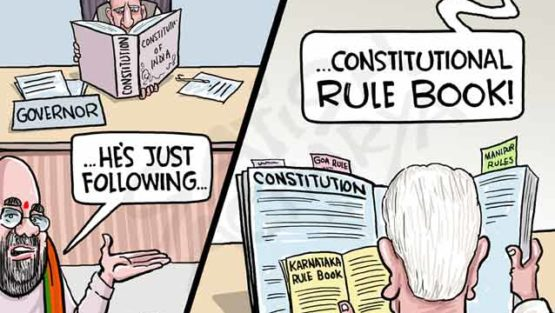 Karnataka Governor going by the Constitutional rule book?